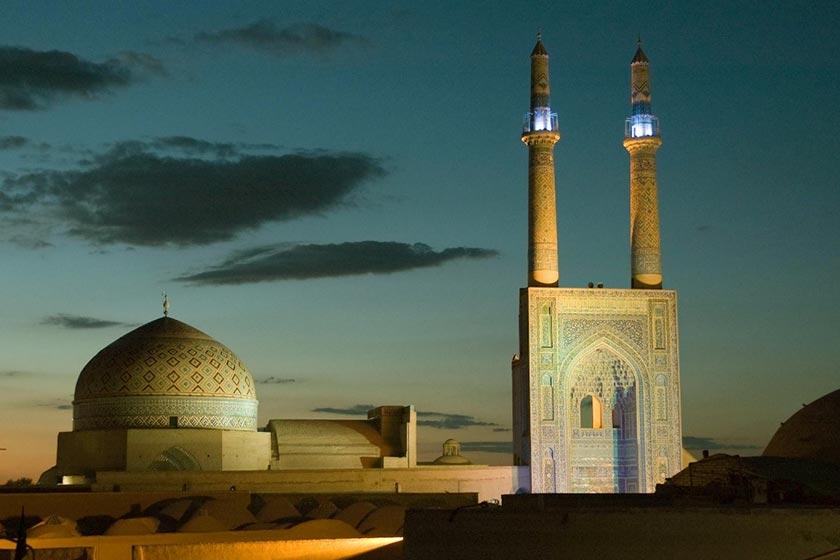 مسجد جامع یزد شاهکار معماری جهان