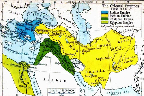 نقشه امپراتوری ماد